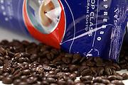 Lavazza bag and espresso beans