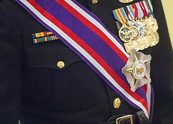 Jun 2, 2017 - Singapore, Singapore - Marine Corps Gen. Joe Dunford, chairman of the Joint Chiefs of Staff, wears Singapore's Military Distinguished Service Order medal in Newton, Singapore. (Credit Image: ? Dominique A. Pineiro/DoD via ZUMA Wire/ZUMAPRESS.com)