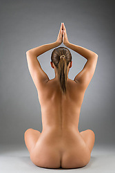 Jul. 26, 2012 - Naked woman meditating (Credit Image: © Image Source/ZUMAPRESS.com)