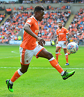 Blackpool's Marc Bola in action<br /> <br /> Photographer Richard Martin-Roberts/CameraSport<br /> <br /> The EFL Sky Bet League One - Blackpool v Fleetwood Town - Monday 22nd April 2019 - Bloomfield Road - Blackpool<br /> <br /> World Copyright © 2019 CameraSport. All rights reserved. 43 Linden Ave. Countesthorpe. Leicester. England. LE8 5PG - Tel: +44 (0) 116 277 4147 - admin@camerasport.com - www.camerasport.com