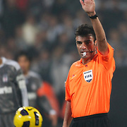 Referee's Yunus YILDIRIM during their Turkish superleague soccer match Besiktas between Bucaspor at BJK Inonu Stadium in Istanbul Turkey on Friday, 21 January 2011. Photo by TURKPIX