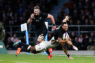 England's Semesa Rokoduguni tackles New Zealand's Israel Dagg - QBE Autumn Internationals - England vs New Zealand - Twickenham Stadium - London - 08/11/2014 - Pic Charlie Forgham-Bailey/Sportimage