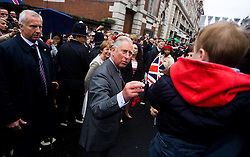 © Licensed to London News Pictures. 03/06/2012. London, Britain.Prince Charles and Camilla, Duchess of Cornwall are celebrating The  Diamond Jubilee street party  on Picadilly Street, London.The Royal Jubilee celebrations. Great Britain is celebrating the 60th  anniversary of the countries Monarch HRH Queen Elizabeth II accession to the throne this weekend Photo credit : Thomas Campean/LNP