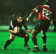 Gloucester, United Kingdom 20001223 Gloucester v Newcastle Premiership, One of the Newcastle subs, faces Gloucester's Steve Ojomoh. [Mandatory Credit, Peter Spurrier/ Intersport Images] Played At Gloucester's Kingsholm Ground.
