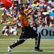 Grant Elliot, Wellington, in action during the Otago Voltz V Wellington Firebirds HRV Cup match at the Queenstown Events Centre, Queenstown, New Zealand. 31st December 2011