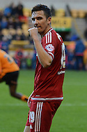 Middlesbrough midfielder Stewart Downing celebrates goal during the Sky Bet Championship match between Wolverhampton Wanderers and Middlesbrough at Molineux, Wolverhampton, England on 24 October 2015. Photo by Alan Franklin.