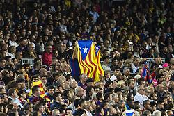 October 21, 2017 - Barcelona, Catalonia, Spain - Catalan Independence flags and symbols during the La Liga match between FC Barcelona v Malaga at Montilivi Stadium on October 21, 2017 in Barcelona, Spain. (Credit Image: © Xavier Bonilla/NurPhoto via ZUMA Press)