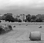 Approaching Bodiam Castle, East Sussex, England