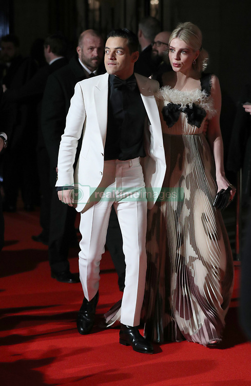 Best Actor Rami Malek and Lucy Boynton attending the after show party for the EE British Academy Film Awards at the Grosvenor House Hotel in central London.