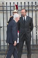 Edouard Balladur_Edouard Philippe Obsèques de Jacques Chirac Lundi 30 Septembre 2019 église Saint Sulpice Paris