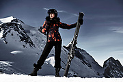 Ski fashion images shot on location on Tignes France for Dare2b Clothing