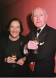LORD & LADY WIGODER at a show in London on 7th December 1998. MMS 14