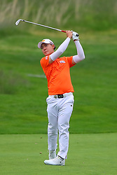 May 19, 2019 - Farmingdale, NY, U.S. - FARMINGDALE, NY - MAY 19:   Jazz Janewattananond of Thailand on the 18th hole during the final round of the 2019 PGA Championship at the Bethpage Black course with a score of 8 under par on May 19, 2019 in Farmingdale, New York.(Photo by Rich Graessle/Icon Sportswire) (Credit Image: © Rich Graessle/Icon SMI via ZUMA Press)