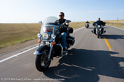Jeff Molldrem on the Harley Owners Group (HOG) ride out from the Full Throttle Saloon during the Sturgis Motorcycle Rally. SD, USA. Thursday, August 12, 2021. Photography ©2021 Michael Lichter.