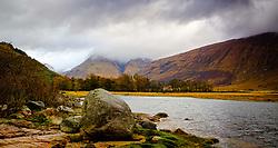 Loch Etive at the head of Glen Etive on a wild, wet autumn day<br /> <br /> (c) Andrew Wilson | Edinburgh Elite media