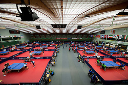 Arena during Team events at Day 4 of 15th Slovenia Open - Thermana Lasko 2018 Table Tennis for the Disabled, on May 12, 2018, in Dvorana Tri Lilije, Lasko, Slovenia. Photo by Vid Ponikvar / Sportida