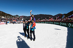 Retired Robert Kranjec of Slovenia celebrates with his fans  during Ski Flying Hill Team Competition at Day 3 of FIS Ski Jumping World Cup Final 2019, on March 23, 2019 in Planica, Slovenia. Photo by Peter Podobnik / Sportida
