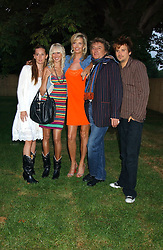 Left to right, RUBY STEWART, KIMBERLEY STEWART, PENNY LANCASTER, ROD STEWART and SEAN STEWART at the annual Serpentine Gallery Summer Party co-hosted by Jimmy Choo shoes held at the Serpentine Gallery, Kensington Gardens, London on 30th June 2005.<br /><br />NON EXCLUSIVE - WORLD RIGHTS