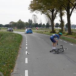 Philippine (NED) CYCLING OCTBER 17<br /> Omloop van de Braakman<br /> Crash