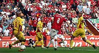 Photo: Paul Thomas.<br /> Watford v Manchester United. The FA Cup, Semi Final. 14/04/2007.<br /> <br /> Wayne Rooney (8) scores for Utd.