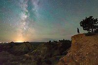 It was a warm summer night at the Terry Badlands. I took this self-portait just before going to sleep at 1AM.