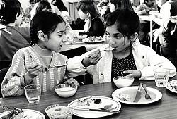 Dinnertime, primary school, Nottingham UK 1986