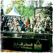 Longchamp Race course, Paris, France. .October 2nd 2011..Qatar Prix de l'Arc de Triomphe..The most competitive mile and half race in the world.....
