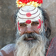 Indian sadhu at the village of Orchha