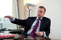 21 JAN 2010, BERLIN/GERMANY:<br /> Iaian Conn, Chief executive Refining and Marketing, Executive member of the BP board of directors, waehrend einem Interview, BP Buero Berlin<br /> IMAGE: 20100121-01-035
