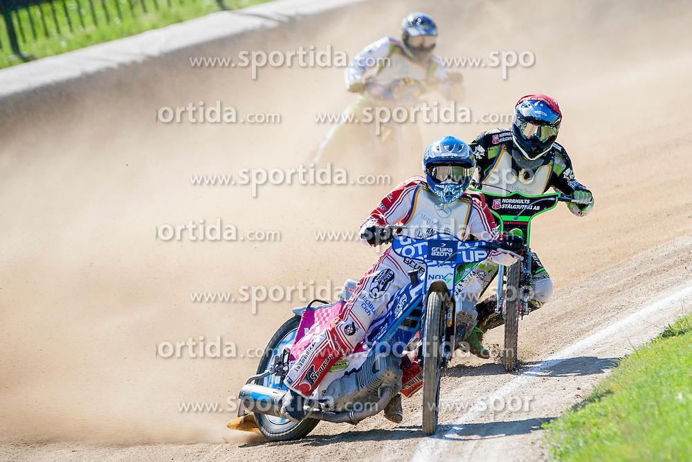 Janusz Kolodziej from Poland and Peter Ljung from Sweden during FIM Speedway Grand Prix World Cup Qualifying, on June 7, 2014, in Sports park Ilirija Ljubljana, Slovenia. Photo by Urban Urbanc / Sportida