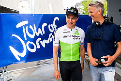 May 20, 2018 - Lillehammer, NORWAY - 180520 Edvald Boasson Hagen of Norway and Sindre J. Olsen, TV2 reporter, after the last stage of the Tour of Norway on May 20, 2018 in Lillehammer..Photo: Jon Olav Nesvold / BILDBYRÃ…N / kod JE / 160254 (Credit Image: © Jon Olav Nesvold/Bildbyran via ZUMA Press)
