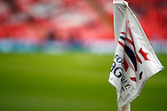 a view of a Wembley corner flag. Capital One Cup Final, Liverpool v Manchester City at Wembley stadium in London, England on Sunday 28th Feb 2016. pic by Chris Stading, Andrew Orchard sports photography.