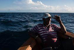 June 19, 2017 - No dia 29 de junho é comemorado o dia do pescador e o Brasil possui 7.367 km de litoral e a maior diversidade de peixes de água doce do mundo, sendo um país com mais de 1 milhão de pescadores. Nas fotos a rotina de trabalho de dois pescadores do Espírito Santo, que são da cidade da Serra (ES)..Na foto: Samuel fuma um cigarro enquanto descana depois de pescar alguns peixes. (Credit Image: © Diego Herculano/Fotoarena via ZUMA Press)