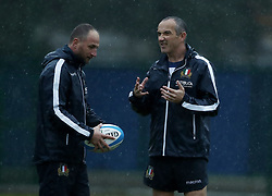 November 20, 2018 - Rome, Italy - Rugby Italy training - Cattolica Test Match.Head coach Conor O' Shea with assistant Mike Catt at Giulio Onesti Sport Center in Rome, Italy on November 20, 2018. (Credit Image: © Matteo Ciambelli/NurPhoto via ZUMA Press)