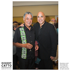 Guests, performers and Festival staff enjoy the hospitality at Transpower functions before and after the Maori Showbands concert, at Wellington Town Hall.