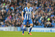 Brighton central midfielder, Andrew Crofts (8) during the Sky Bet Championship match between Brighton and Hove Albion and Middlesbrough at the American Express Community Stadium, Brighton and Hove, England on 19 December 2015.