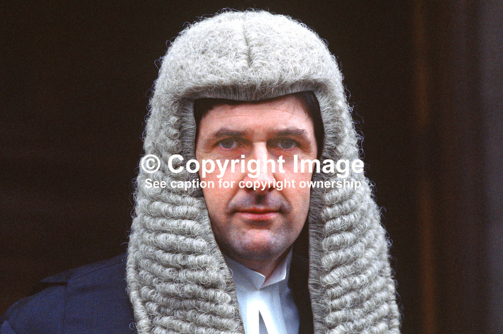 Reginald Weir, QC, Barrister, N Ireland, UK, 19850003RW.<br /> <br /> Copyright Image from Victor Patterson, Belfast, UK<br /> <br /> t: +44 28 9066 1296 (from Rep of Ireland 048 9066 1296)<br /> m: +44 7802 353836<br /> e: victorpattersonbelfast@gmail.com<br /> <br /> www.images4media.com<br /> <br /> Please see my full Terms and Conditions of Use at https://www.images4media.com/p/terms-conditions - it is IMPORTANT that you familiarise yourself with them.<br /> <br /> Images used online incur an additional cost. This cost should be agreed in writing in advance. Online images must be visibly watermarked i.e. © Victor Patterson or that of the named photographer within the body of the image. The original metadata must not be deleted from images used online.<br /> <br /> This image is only available for the use of the download recipient i.e. television station, newspaper, magazine, book publisher, etc, and must not be passed on to a third party. It is also downloaded on condition that each and every usage is notified within 7 days to victorpattersonbelfast@gmail.com.<br /> <br /> The right of Victor Patterson (or the named photographer) to be identified as the author is asserted in accordance with The Copyright Designs And Patents Act (1988). All moral rights are asserted.