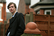 Acclaimed singer and songwriter Jim Noir, pictured near his home in Chorlton, Manchester. Noir's debut cd entitled 'The Tower of Love' was released on 5th December, 2005, and the single from it, entitled 'Key of C' was released on 20th February 2006, at the start of his first major tour of the UK and Ireland.