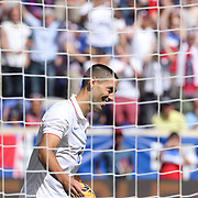 Clint Dempsey, USA, after scoring what proved to be the winning goal during the US Men's National Team's 2-1 win against Turkey in the friendly match at Red Bull Arena.  The game was part of the USA teams three-game send-off series in preparation for the 2014 FIFA World Cup in Brazil. Red Bull Arena, Harrison, New Jersey. USA. 1st June 2014. Photo Tim Clayton