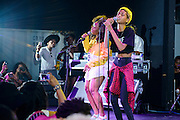 SZA performing with special guest Willow Smith at the Red Bull Sound Select at Rough Trade in New York City on July 15, 2014.