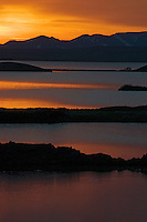 02.06.2008.Sunset at Mývatn.Iceland