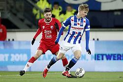 (L-R) Mateusz Klich of FC Utrecht, Martin Odegaard of sc Heerenveen during the Dutch Eredivisie match between sc Heerenveen and Willem II Rotterdam at Abe Lenstra Stadium on March 17, 2018 in Heerenveen, The Netherlands