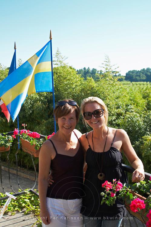 two swedish visitors chateau villars fronsac bordeaux france