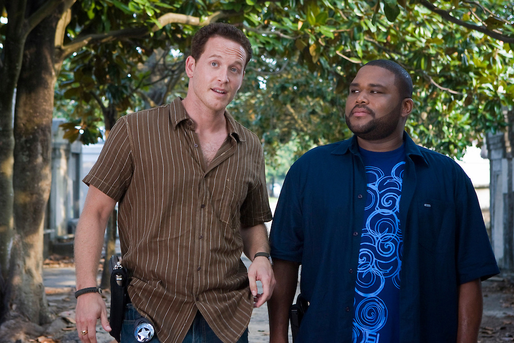 Cole Hauser as Trevor Cobb and Anthony Anderson as Marlin Boule in Fox Television's 'K-Ville' - a police drama set in New Orleans after Hurricane Katrina.