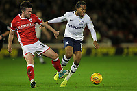 Preston North End's Daniel Johnson competing with Barnsley's Stevie Mallan <br /> <br /> Photographer Andrew Kearns/CameraSport<br /> <br /> The EFL Sky Bet Championship - Barnsley v Preston North End - Tuesday 26th December 2017 - Oakwell - Barnsley<br /> <br /> World Copyright © 2017 CameraSport. All rights reserved. 43 Linden Ave. Countesthorpe. Leicester. England. LE8 5PG - Tel: +44 (0) 116 277 4147 - admin@camerasport.com - www.camerasport.com