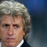 Benfica's coach Jorge JESUS during their UEFA Champions League third qualifying round, second leg, soccer match Trabzonspor between Benfica at the Ataturk Olimpiyat Stadium at İstanbul Turkey on Wednesday, 03 August 2011. Photo by TURKPIX