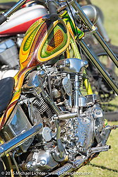Harley-Davidson Knucklehead custom on Day two of the Born Free Vintage Chopper and Classic Motorcycle Show at the Oak Canyon Ranch in Silverado, CA. USA. Sunday, June 29, 2014.  Photography ©2014 Michael Lichter.