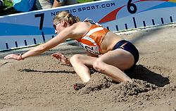 08-08-2006 ATLETIEK: EUROPEES KAMPIOENSSCHAP: GOTHENBORG <br /> Karin Rucksthul de Nederlandse recordhoudster bij het verspringen sprong in haar laatste poging tot 6,51 meter. <br /> ©2006-WWW.FOTOHOOGENDOORN.NL