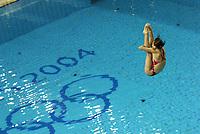 26/08/04 - ATHENS  - GREECE -  OLYMPICS GAMES 2004 - DIVING - Women 3m. Springboard final.<br />Here WU Minxia FORM (CHN) who win the SILVER MEDAL.<br />© Gabriel Piko / Argenpress.com / Piko-Press