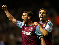 Football -The Championship- Leicester City vs. West Ham United-  West Ham skipper Kevin Nolan celebrates the second goal with Gary O'Niell at The King Power Stadium